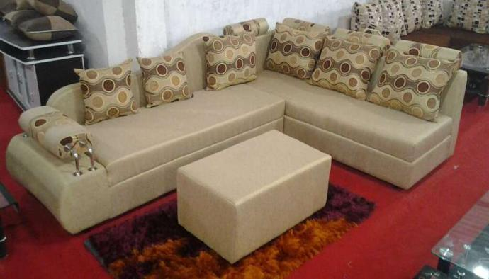 Sofa Set In Cream Colour