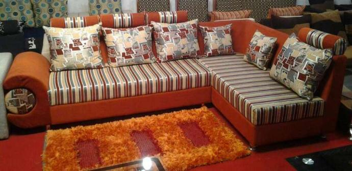 Brand New Sofa Set In Strip Design