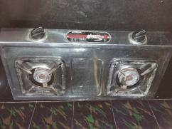 Stainless Steel Two Burner Gas Stove, lighter, gas pipe good condition in Hyd