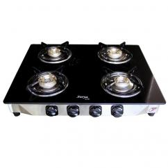 Buy Surya AVE 4 Burner Manual Ignition Glass Top Gas Stove