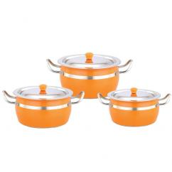 Buy Klassic Vimal 6 Pcs Colour Pot Dish at HomeShop18