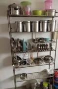 kitchen rack of original stainless steel