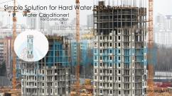 Natural water softeners for constructions in bangalore