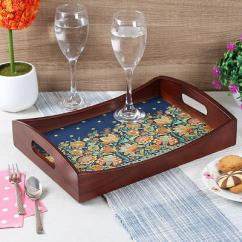 Navratri Sale Serving Wooden Tray  Woodenstreet