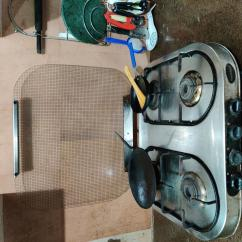 Sunblaze 4 burner steel gas stove in working condition