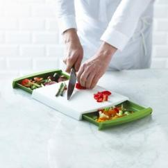 Chop N Clear Cutting Board with Removable Drawers