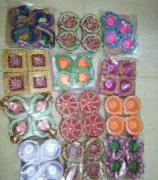Lovely Designer Diya In Beautiful Colors