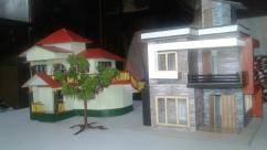Realistic Modern Bungalow Models With Tree