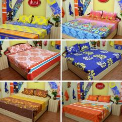 Teleone launches Darvi Luxury 6 Cotton Double Bed Sheets Combo Set Online