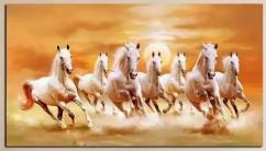 beautiful painting of 7 horses