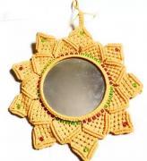 sunflower macrame design mirror