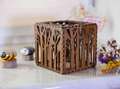 Wooden Light Box Candle Wooden Shadow Box