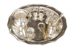 German Silver Pooja Thali set