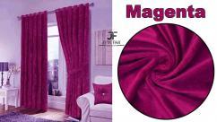 Jvin Fab Velvet Magenta Curtains 9 Feet