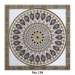 Ceramic Rangoli Carpet Tile