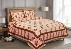 Sanganeri Print Bedsheet With 2 Pillow Cover