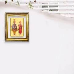 24k Gold Plated Swami Narayan Dg Frame