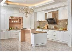 White Modern Modular Kitchen
