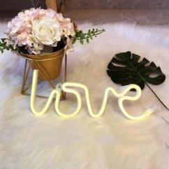 Decorative Lamps Neon Love Light