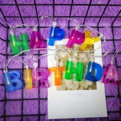 Happy Birthday LED Light