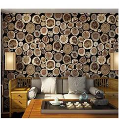 Floral Wallpaper, Abstract Wallpaper, Wooden Wallpaper, 3D Wallpaper