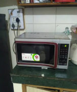 Red And Black Microwave Oven