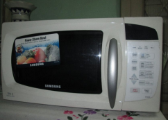 Samsung microwave oven.