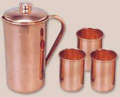 Copper Jug Set In Best Price