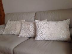 Cushion In Silver color