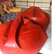A pair of Red Coloured Bean Bags