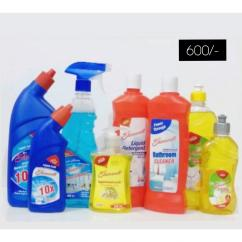 Household cleaning product combos