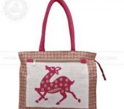 Dancing Deer Jute Bag