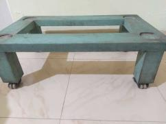 Wooden washing machine trolley with wheels