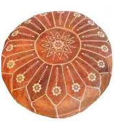 Moroccan leather pouf ottomans footstools