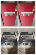 WELL CONDITION FRIDGE AND WASHING MACHINE WITH 5 YEAR WARRANTY