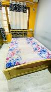 Rubber Wood bed with Duroflex mattress