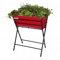 VegTrug Poppy Vegetable and Herb Planter with Felt Liner (Red)