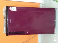 Haier red single door 170L refrigerator