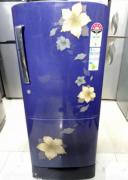 Samsung blue colour built in stabilizer flower design Refrigerator