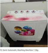 Semi Automatic Washing Machine 7.2kg