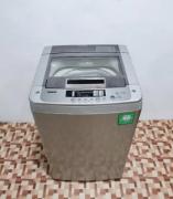 Silver LG turbo washing machine