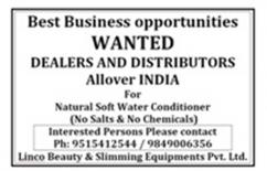 Dealership Opportunity for Eco Water Softeners in Cuddapah