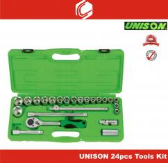Socket And Wrench 24pcs Tools Kit