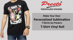 PERSONALIZED SUBLIMATION T-SHIRTS DESIGN - PRESTO