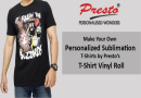 Personalized Sublimation T-shirts Design - Presto