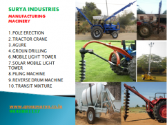 Pole erection,Ground drilling,Auger,Tractor Crane,Transit Mixture,Piling Machine