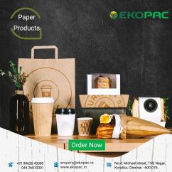 Buy Paper Plates, Straws and Cups in Chennai with best Price Ekopac