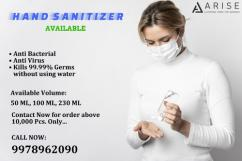 ARISE HAND SANITIZER, Packaging Type CAN, Packaging Size 5 Ltr