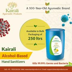 Kairali hand sanitizer  Shop online bulk packs of 250Ltrs