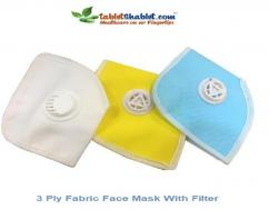 3 Ply Fabric Face Mask With Filter